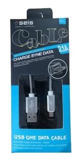 Cable Para Cargador Usb 1 Mt Carga Rapida Cargador V8