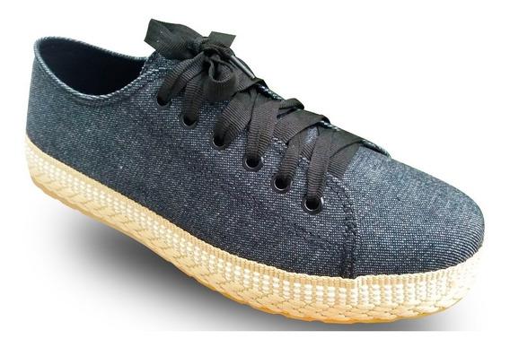 Sapato Redsun-jeans Com Detalhes Trançado