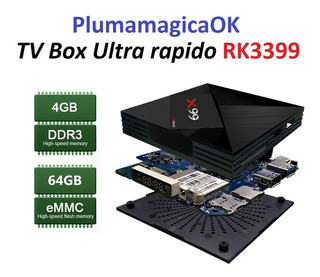 Android Tv Box 4-64gb Rk3399 Plumamagicaok