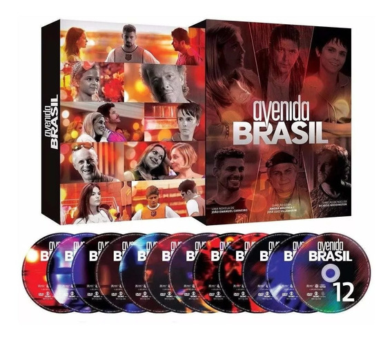 Dvd Novela Avenida Brasil Box Lacrado 12 Discos Original