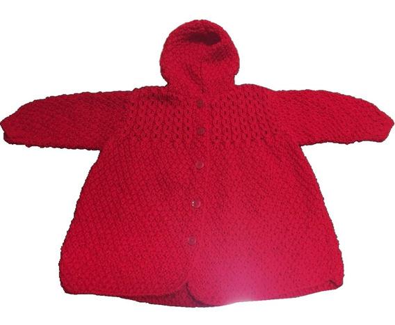 Abrigo Para Bebé Tejido Dos Agujas