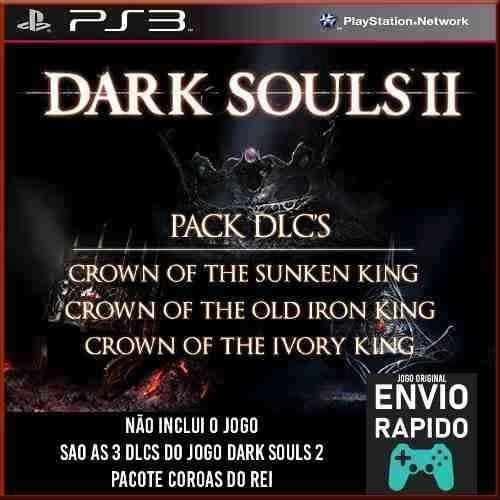 Pack 3 Dlcs Dark Souls 2 Nao Inclui O Jogo - Jogos Ps3 Orig