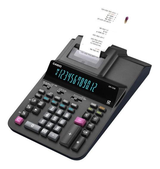 Calculadora Con Impresor Casio Sumadora Dr-120r-bk