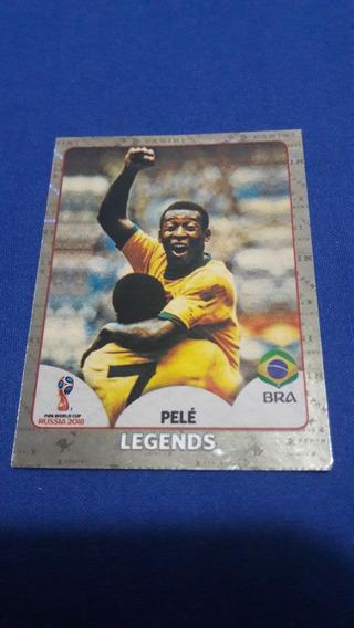 Figurinha 680 Pelé Legends Copa 2018 Cromada