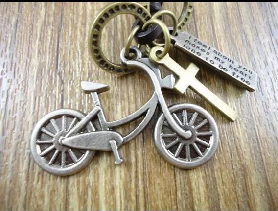 Colares Feminino Masculino Pingente Bicicleta- Frete Grátis