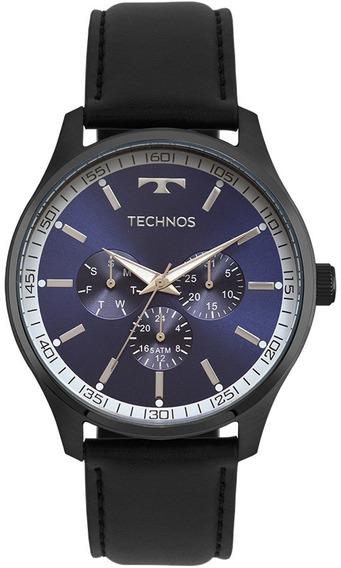 Relógio Technos Masculino Classic 6p29ajp/2a Preto Couro