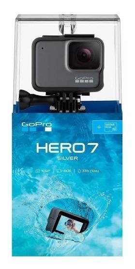 Câmera Digital Gopro Hero 7 Silver 10mp 4k30 Original C/ Nf
