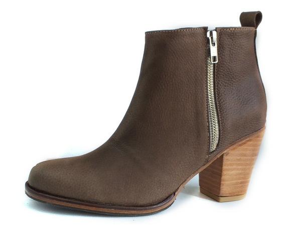 Zapato Mujer Bota Cuero Cierre Lateral Artesanal 2020
