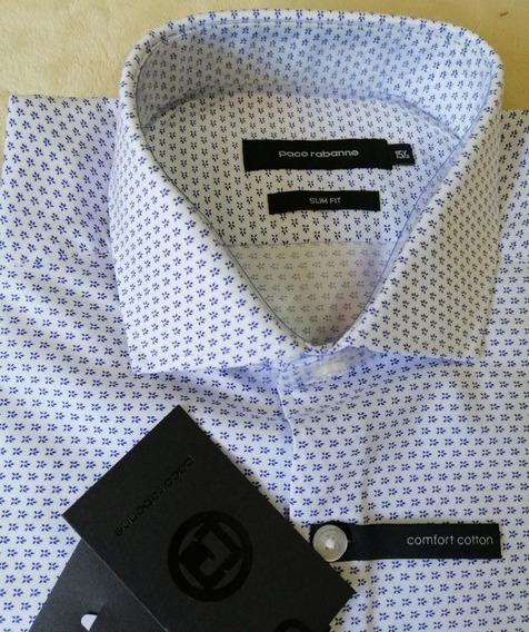 Camisa Paco Rabanne Slim Fit Hombre De Vestir Nuevo Oferta