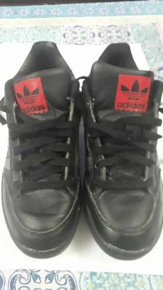 Zapas adidas De Cuero Negro N: 41,us 8 Uk 7,5.