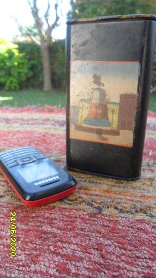 Antigua Cigarrera Con Porta Fosforos En Estado Original