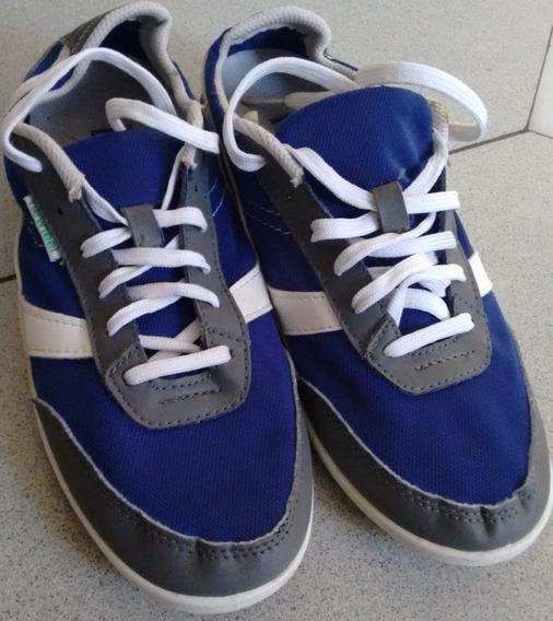 Zapatillas 38/39 Azul Gris Y Blancas Newfeel Urban Converse Nike Caba