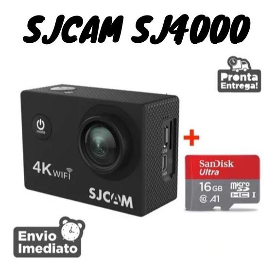Camera Sjcam Sj4000 Wifi Full Hd Filma Gopro Prova Wi-fi 4k