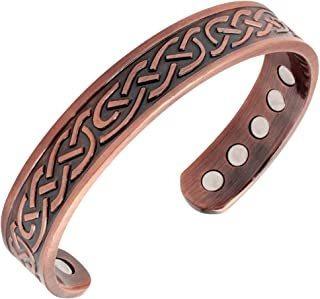 Reevaria - Copper Magnetic Celtic Heavyweight Cuff Bracelet