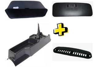 Caixa Porta Luvas + Tampa + Console + Grade Capo Fusca 4pç