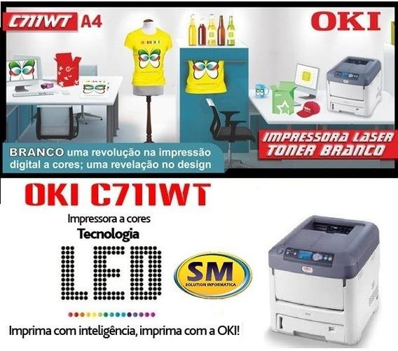 Impressora Oki C711wt Toner Branco Nova 12 X Sem Juros