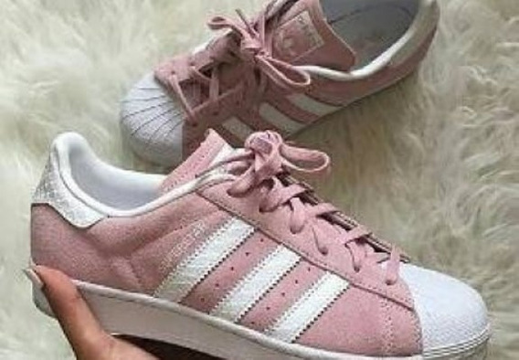 adidas Superstar Gamuza Rosas. Originales