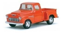 Miniatura Chevy Stepside 1955 Laranja