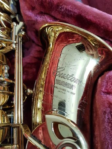 Imagem 1 de 12 de Sax Alto Yamaha Custom Yas-875 Gold, 100% Original 4dig.