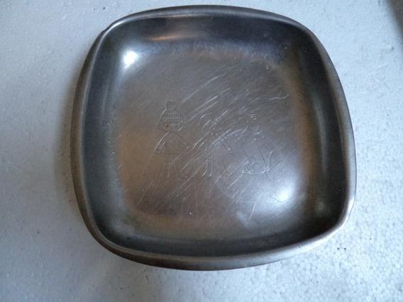 1 Prato Hercules Inox Usado E Antigo R.200