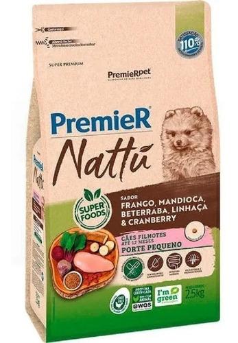 Ração Premier Nattu Cães Filhotes Raças Peq Mandioca 2,5kg