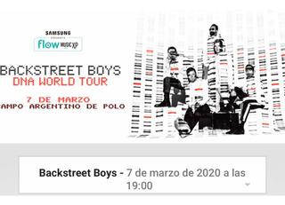 Entrada Backstreet Boys2020