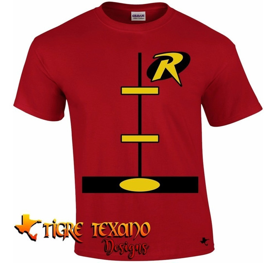 Playera Super Héroes Robin Mod. 04 By Tigre Texano Designs