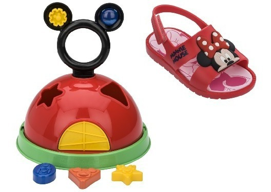 Sandalia Infantil Mickey E Minnie Diversao Grendene 21996