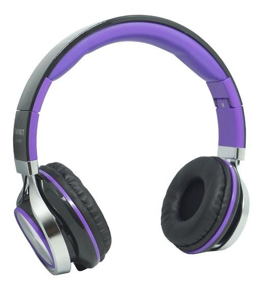 Fone Ouvido Headfone C/ Fio P2 Bass Celular Roxo Microfone
