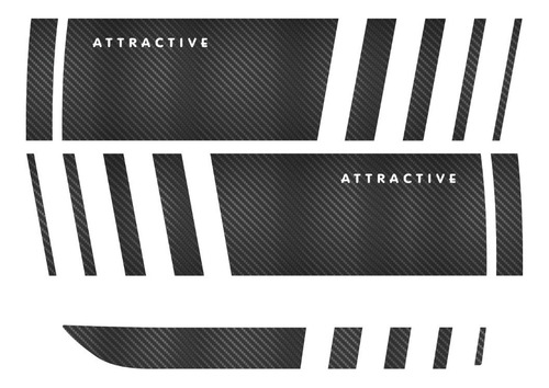 Adesivo Fiat Palio Atractive Faixa Kit Fibra Carbono Ploatv