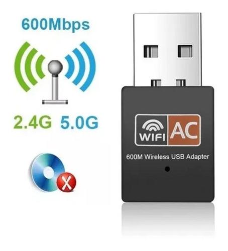 Wifi Usb Nano Dualband Ac600 2.4/5ghz Mayor Velocidad