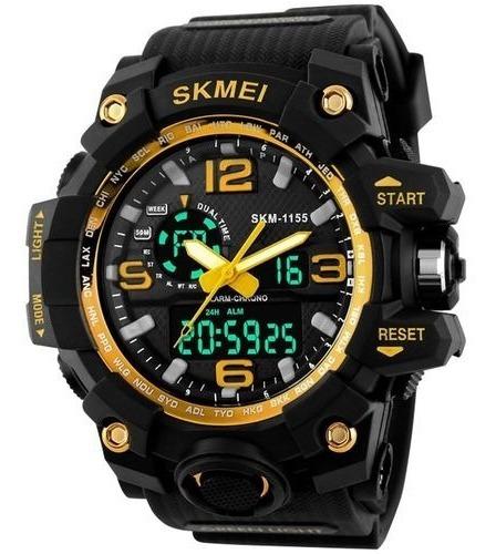 Relógio Militar Skmei Dourado Prova D