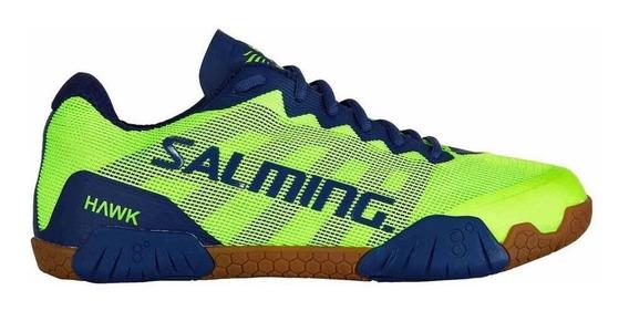Tenis Para Squash Salming Hawk Fluo Green/limoges Blue