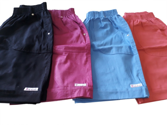 Shorts Feminino Plus Size Tamanho Grande Adulto Kit C/ 4 Pcs