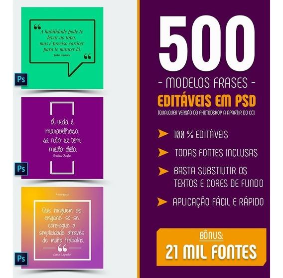 500 Modelos De Frases Redes Sociais Editáveis Em Photoshop
