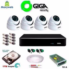 Kit Cftv 4 Câmeras Full Hd 1080p 2mp Giga Security Sony Exmo