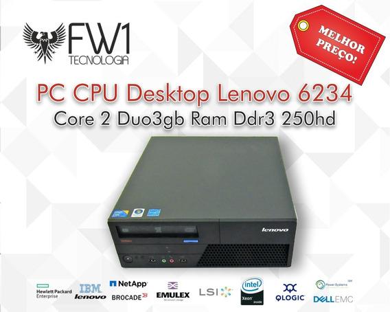 Pc Cpu Desktop Lenovo 6234 Core 2 Duo 3gb Ram Ddr3 250hd