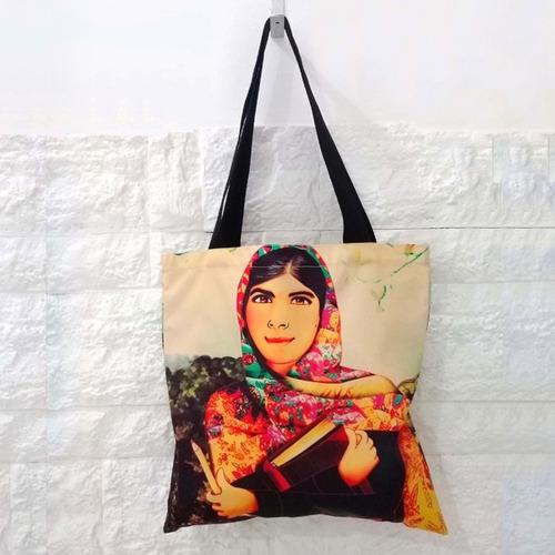 Malala Yousafzai Bolso Velif Tela Estampada Diseño Exclusivo