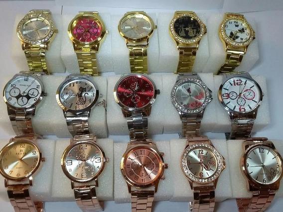Kit Relógio Feminino Lote C/10pcs Atacado + Frete Grátis