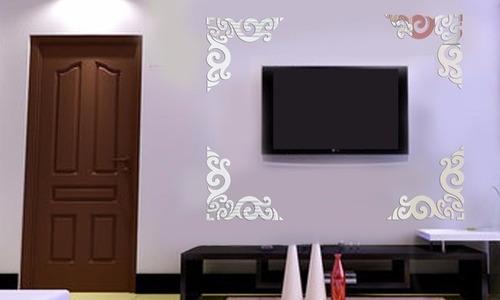 Espelho Decorativo Em Acrílico Arabescos Sala Quarto