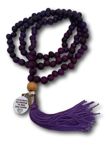 Japamala  Com Semente De Açaí Violeta 108 Contas Ref: 0354