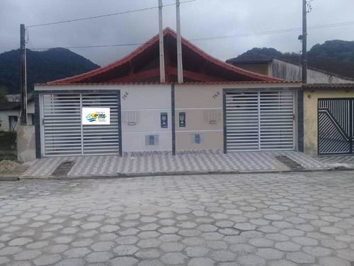 Imagem 1 de 14 de Belissíma Casa Nova A Venda Em Mongaguá Pedreira Ref-738