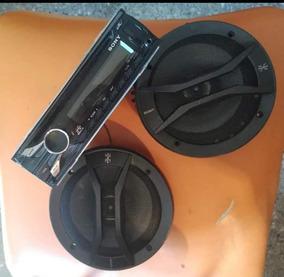 Radio Reproductor Cd-usb Marca Sony Con 2 Cornetas De Puerta