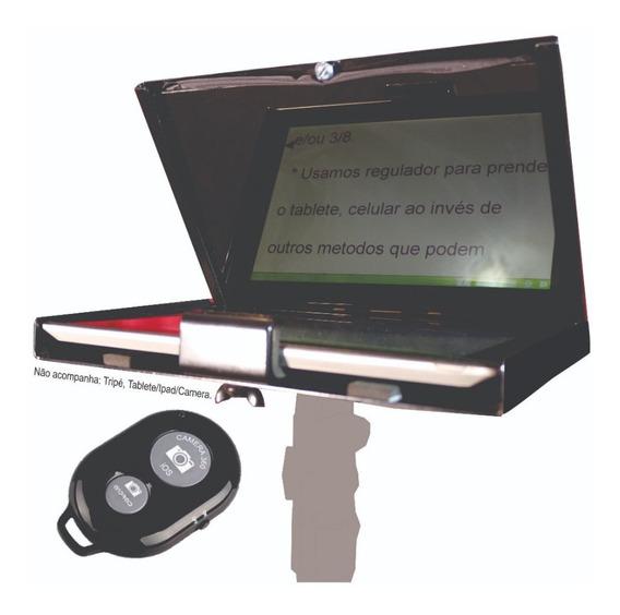 Teleprompter Baby P/ Dslr/tablete/celular C/ Controle Remoto