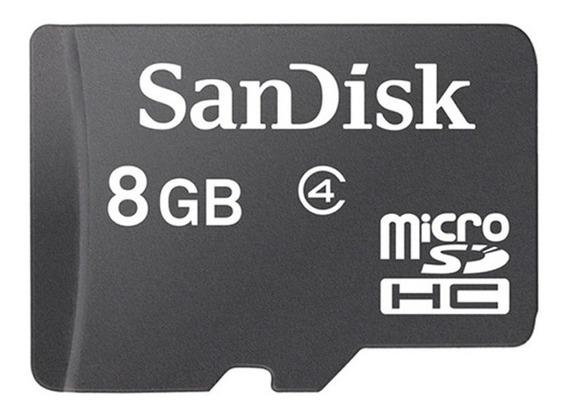 Cartão De Memória Micro Sd Sandisk 8gb Com Adaptador Cl4