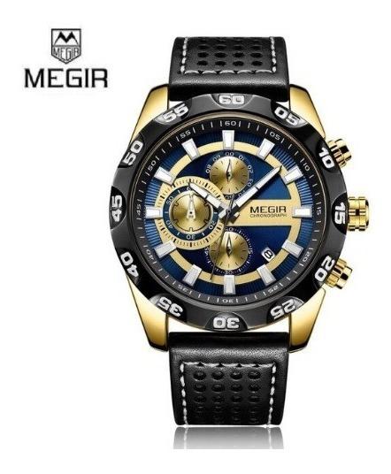 Relógio De Luxo Megir 2096 (cronógrafos) 2 Cores