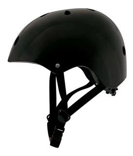 Capacete Semi Profissional Preto Skate/longboard/roller Mor
