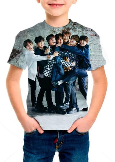 Camiseta Infantil Kpop Bts (bangtan Boys) - M004
