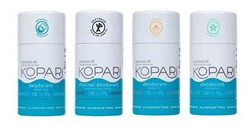 Paquete De 4 Desodorantes Sin Aluminio Kopari   No Toxico, S