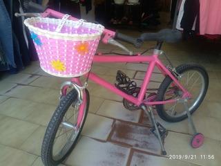 Bicicleta Rodado 16 Usado Con Canasta Rueditas
